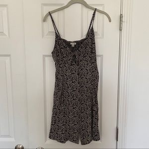 Black and cream floral dress
